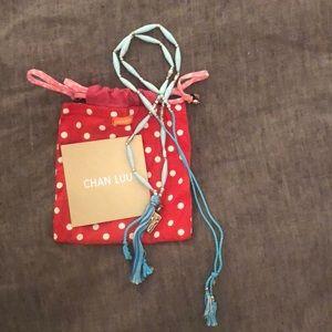Chan Luu Long turquoise tassel necklace